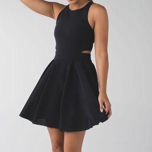 Lululemon Away Black Mini Dress | 6